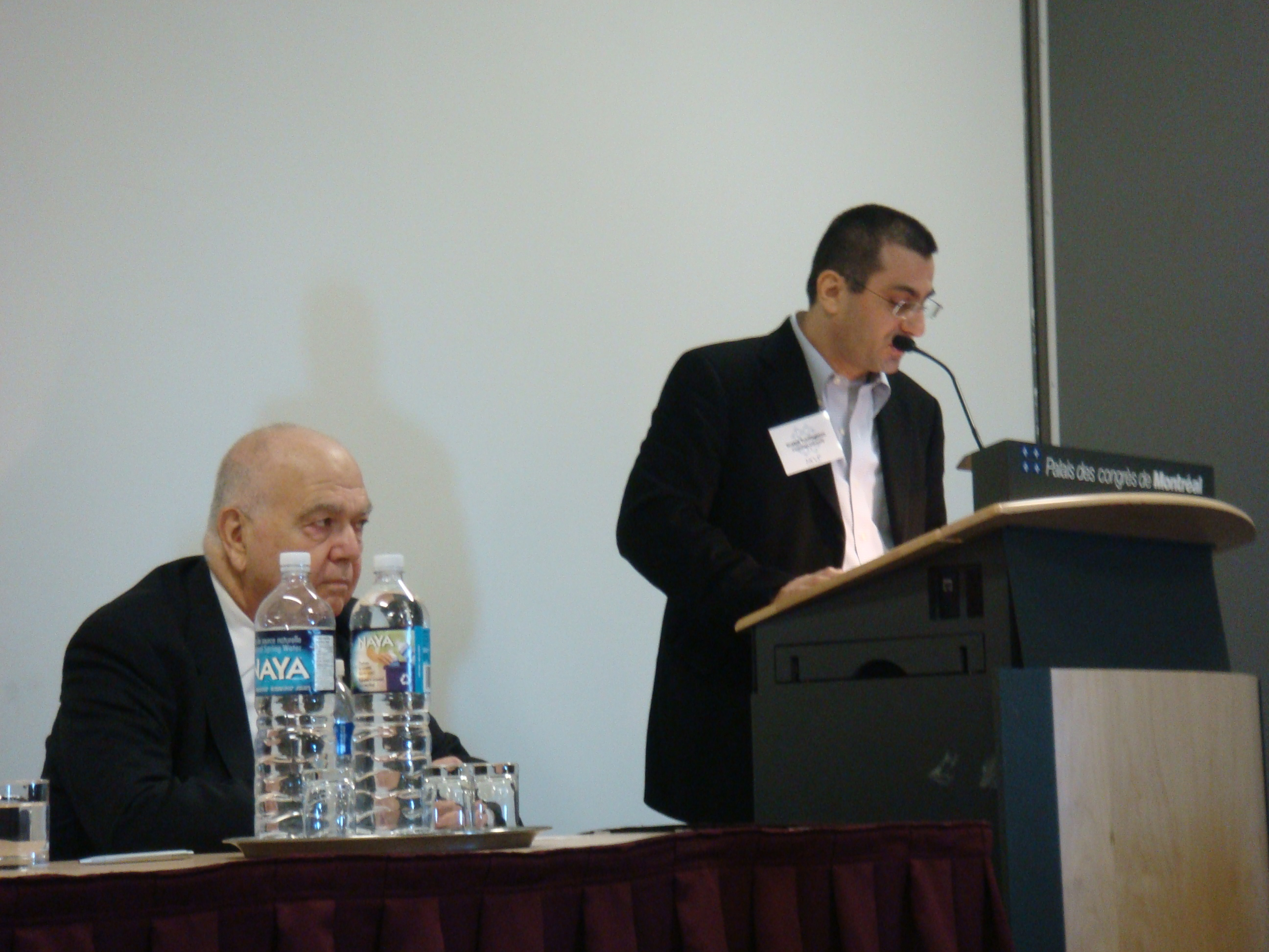 MESA Conference, 2007, Richard Hovhanissian (L), Hratch Tchilingirian at Hrant Dink Memorial Panel