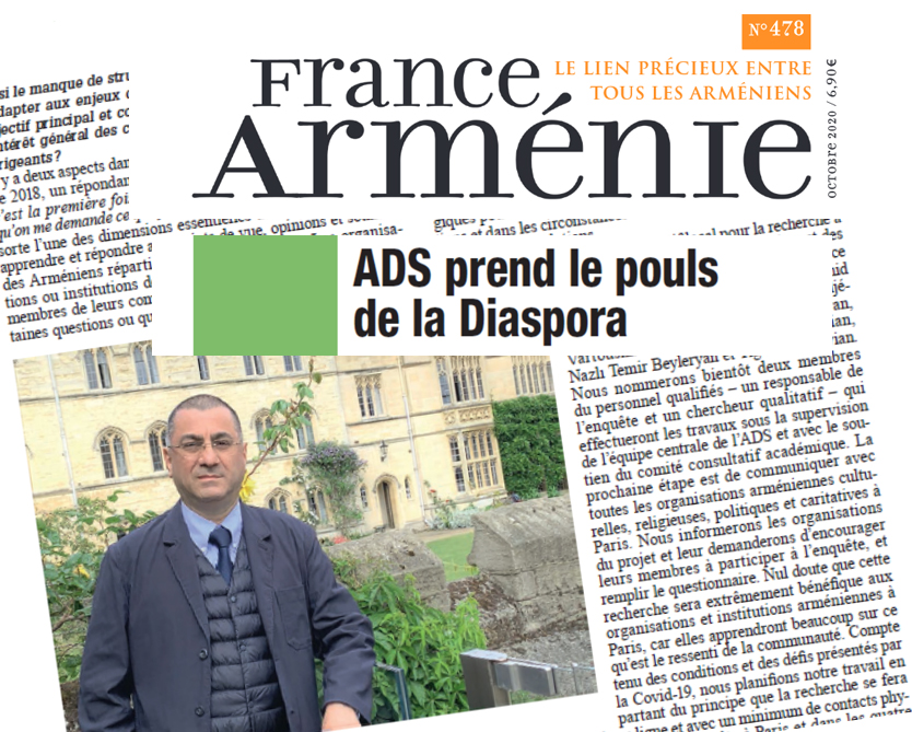 France Armenie ADS Hratch Interview Oct2020